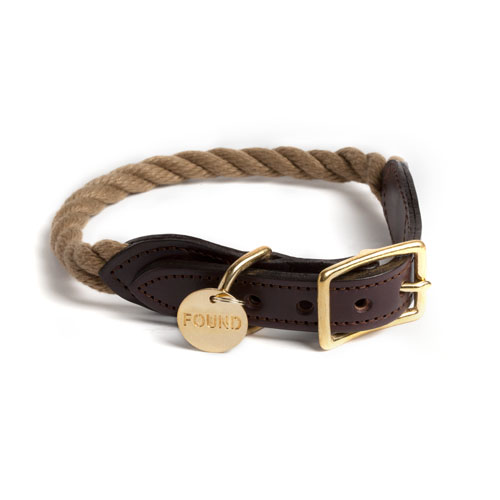 Natural Rope Dog Collar by Found My Animal