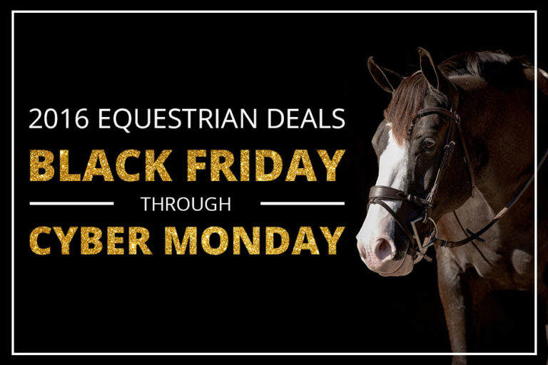 2016 equestrian deals: Black Friday through Cyber Monday