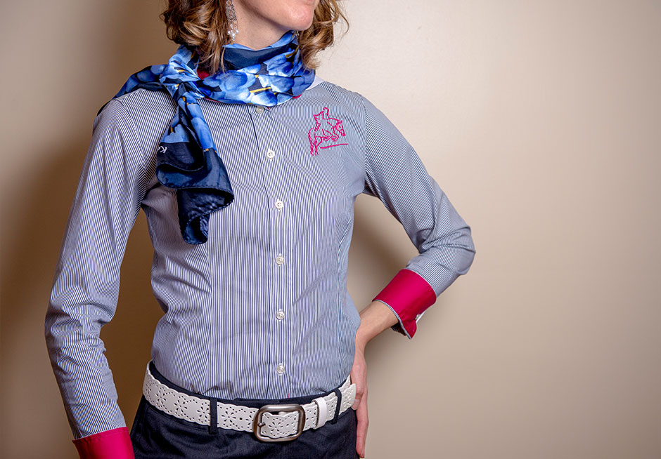 red-scarf-equestrian-quintessential-stripe-shirt-navy-work