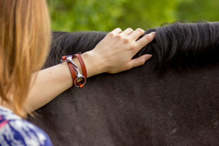 Rebecca Ray Designs Classic Leather Wrap Snaffle Bracelet