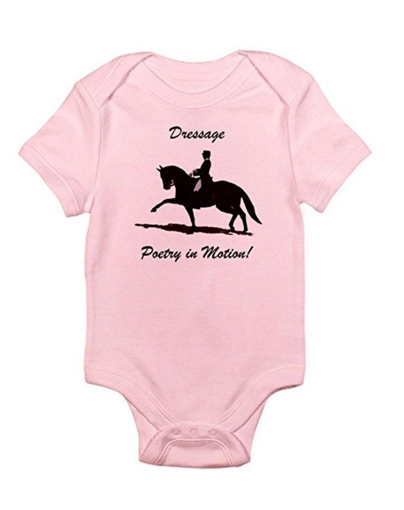 Equestrian Baby: Cafe Press- Dressage Poetry in Motion Horse Infant Bodysuit