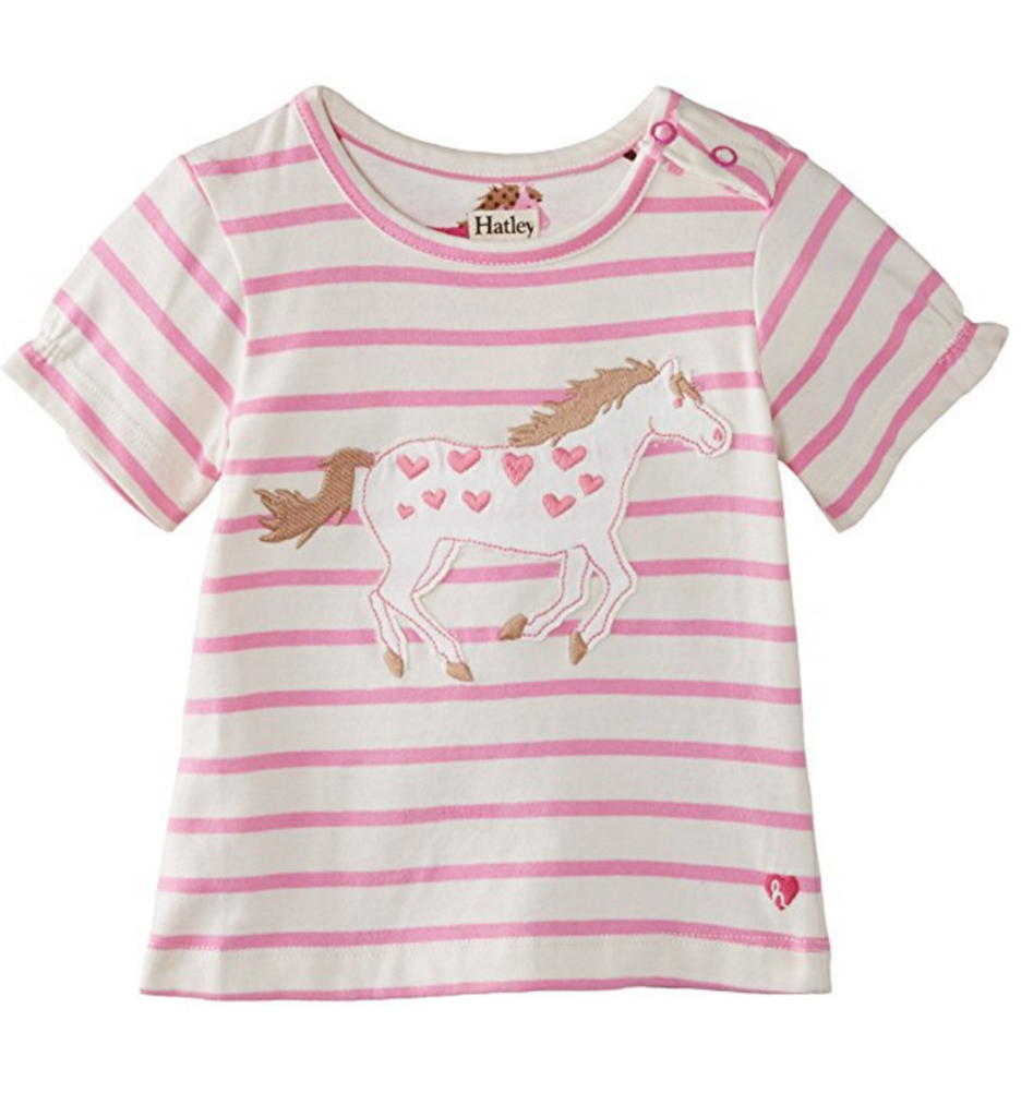 Equestrian Baby: Hatley Baby Girls' Tee Hearts and Horses