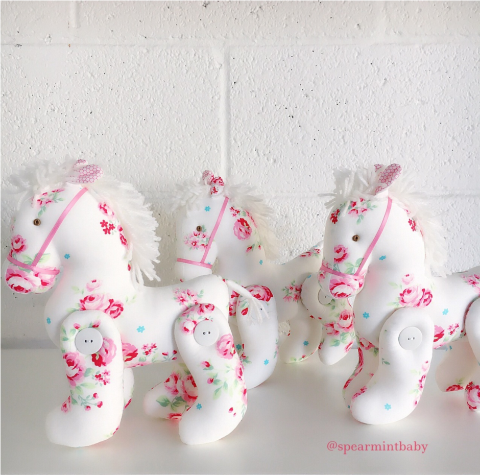 Equestrian Baby: Spearmint Love Floral Pony