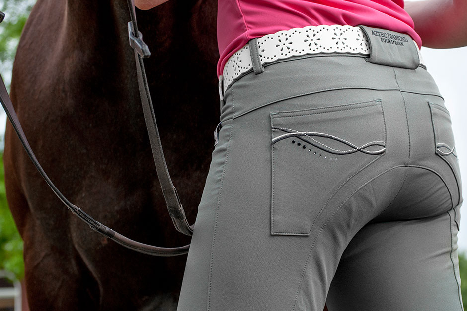 Review Aztec Diamond Equestrian Grey Amelie Breeches